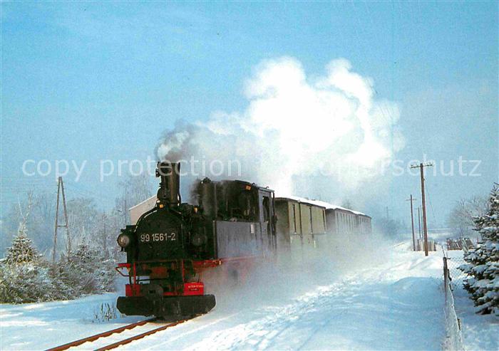 AK / Ansichtskarte Lokomotive Dampf Schmalspurlokomotive 991561 2 Deutsche Reichsbahn  Kat. Eisenbahn