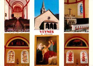 AK / Ansichtskarte Veynes Kirche Innenansichten Gemaelde Kirchenfenster Kat. Veynes