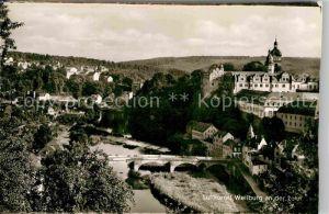 AK / Ansichtskarte Weilburg Lahn Steinbruecke und Schloss