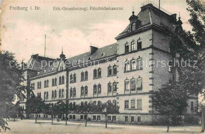 AK / Ansichtskarte Freiburg Breisgau Erb Grossherzogl Friedrichskaserne Kat. Freiburg im Breisgau