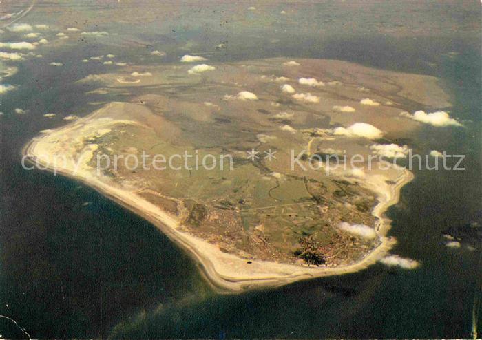 AK / Ansichtskarte Borkum Nordseebad Nordseeinsel Fliegeraufnahme aus 4800 m Hoehe Kat. Borkum