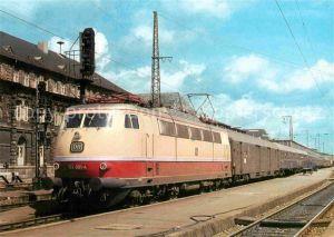 AK / Ansichtskarte Eisenbahn Elektro Schnellzuglokomotive 103001 4 Deutsche Bundesbahn  Kat. Eisenbahn