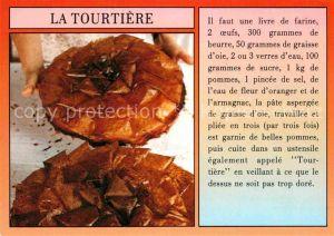 AK / Ansichtskarte Lebensmittel Tourtiere Recette  Kat. Lebensmittel