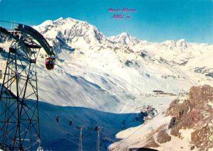 AK / Ansichtskarte Seilbahn Grande Motte Mont Blanc Tignes Savoie  Kat. Bahnen