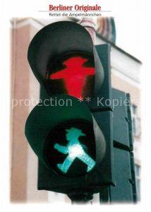 AK / Ansichtskarte Werbung Reklame Ampel Berlin Ampelmaennchen  Kat. Werbung