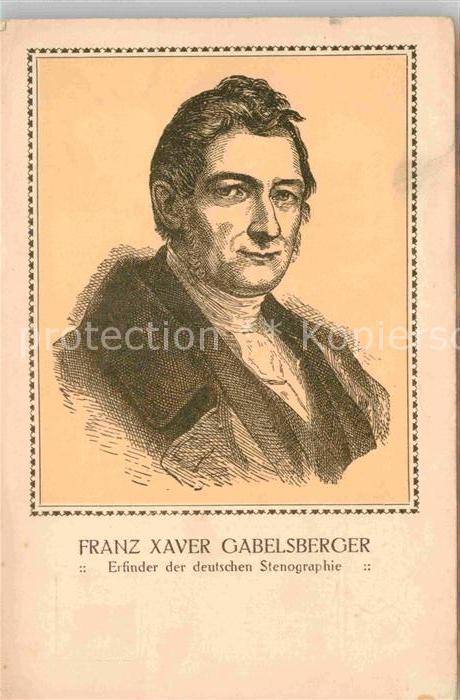 AK / Ansichtskarte Giessen Lahn Franz Xaver Gabelsberger Kat. Giessen