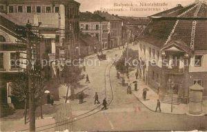AK / Ansichtskarte Bialystok Nikolaistrasse 1. Komp. Landsturm Inf.Batl. II. Hagenau Kat. Bialystok
