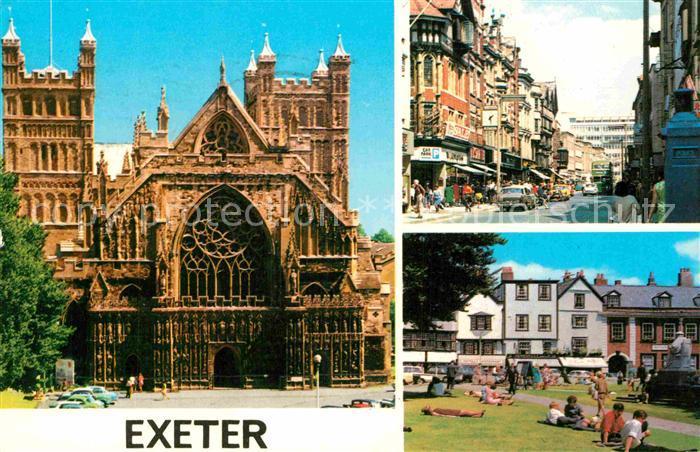 AK / Ansichtskarte Exeter Cathedral Street Scene Parc Kat. Exeter