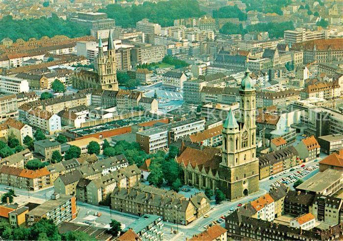 AK / Ansichtskarte Braunschweig Fliegeraufnahme St. Andreas Kirche St. katharinen Kirche Theater  Kat. Braunschweig