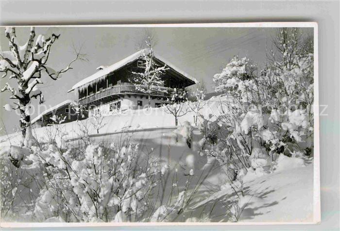 AK / Ansichtskarte Vorderhindelang Pension Herrgottswinkel Winter Kat. Bad Hindelang