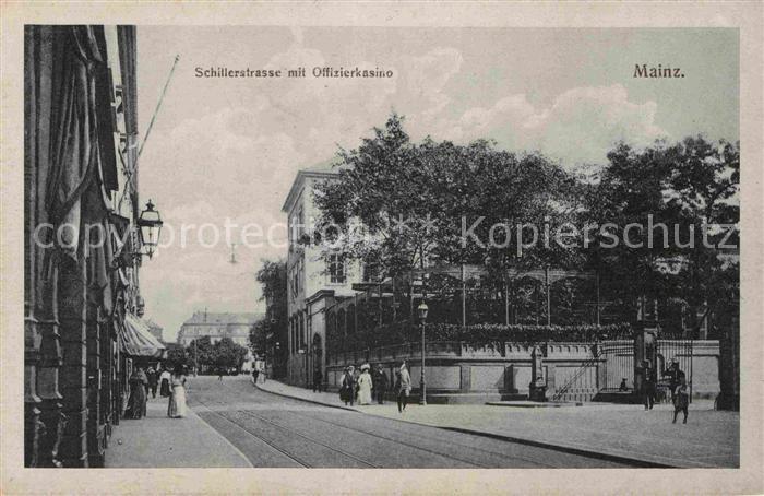 AK / Ansichtskarte Mainz Rhein Schillerstrasse Offizierskasino