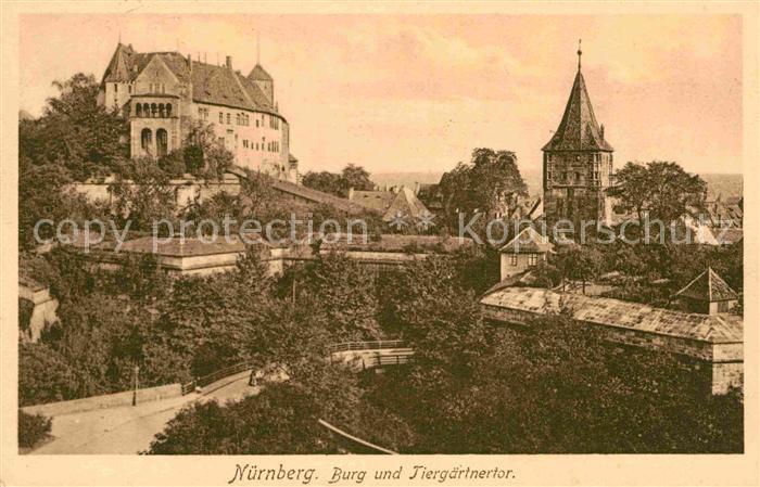 AK / Ansichtskarte Nuernberg Burg Tiergaertnertor Kat. Nuernberg