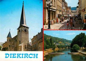 AK / Ansichtskarte Diekirch Eglise Saint Laurent Grande Rue La Sure Kat. Diekirch