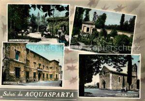 AK / Ansichtskarte Acquasparta Fonte San Francesco Fonte di Furapane Chiesa San Francesco