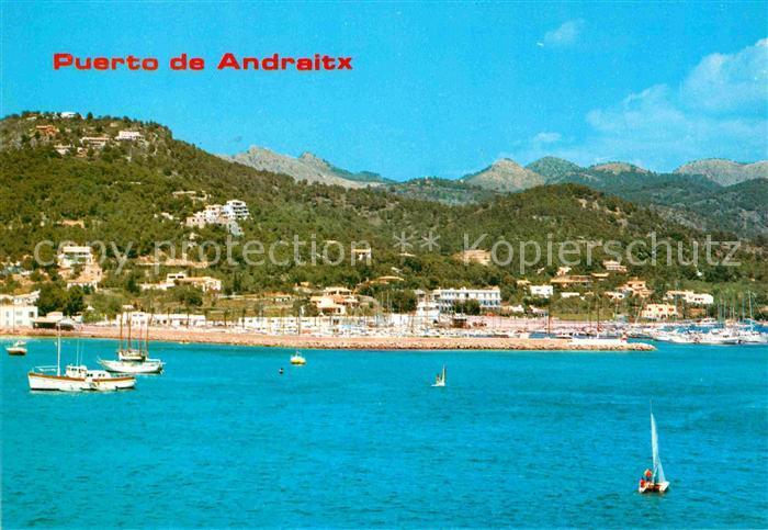 AK / Ansichtskarte Puerto de Andraitx Ansicht vom Meer aus Berge