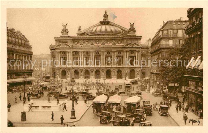 AK / Ansichtskarte Paris Place de l Opera Collection Les Petits Tableaux de Paris Kat. Paris