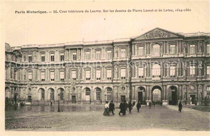 AK / Ansichtskarte Paris Historique Cour interieur du Louvre Kat ...