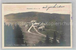 AK / Ansichtskarte Schauinsland Gasthof Pension zur Halde Kat. Oberried