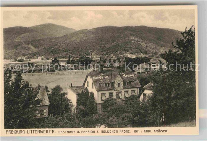 AK / Ansichtskarte Littenweiler Gasthof Pension Zur Goldenen Krone Kat. Freiburg im Breisgau