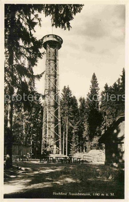 AK / Ansichtskarte Neustadt Schwarzwald Aussichtsturm auf dem Hochfirst