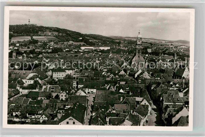 AK / Ansichtskarte Amberg Oberpfalz Panorama Kat. Amberg