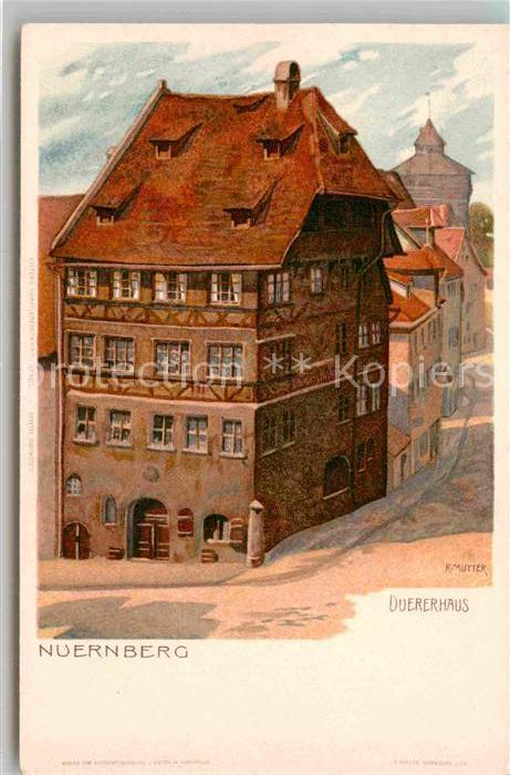 AK / Ansichtskarte Nuernberg Duererhaus Kuenstler Mutter Kat. Nuernberg