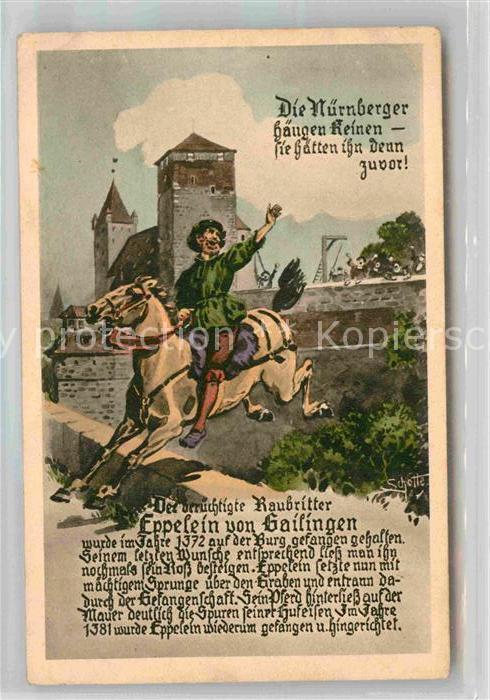 AK / Ansichtskarte Nuernberg Raubritter Eppelein von Gailingen Eppeleinsprung Kat. Nuernberg