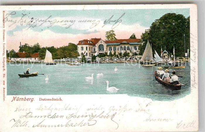 AK / Ansichtskarte Nuernberg Dutzendteich Kat. Nuernberg