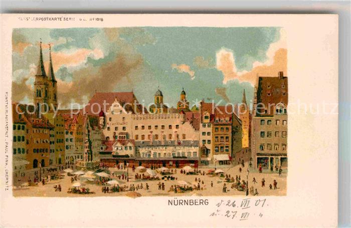 AK / Ansichtskarte Nuernberg Marktplatz Kat. Nuernberg