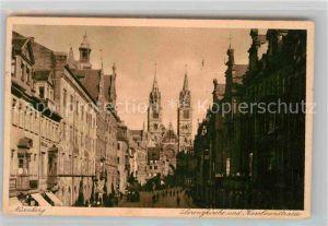 AK / Ansichtskarte Nuernberg Lorenzkirche Karolinenstrasse Kat. Nuernberg