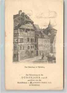 AK / Ansichtskarte Nuernberg Duererhaus Kuenstlerkarte  Kat. Nuernberg