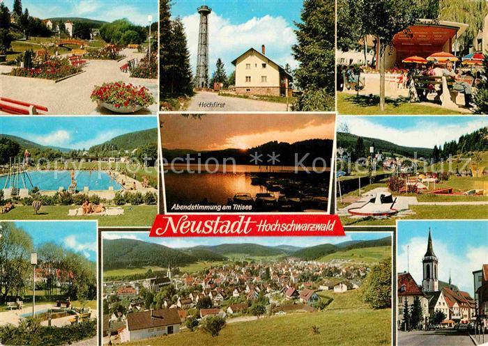 AK / Ansichtskarte Titisee Neustadt Kurpark Hochfirst Rasthaus Hochfirst Titisee Panorama Kirche Kat. Titisee Neustadt