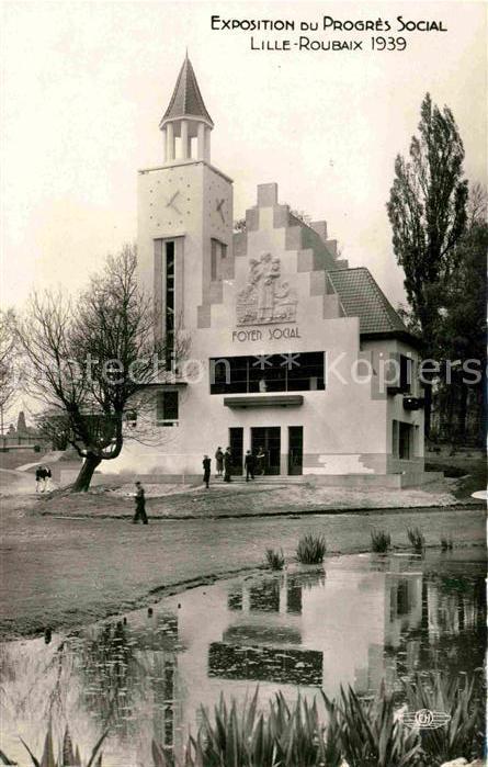 AK / Ansichtskarte Roubaix Pavillon de l Aisne Exposition du Progres Social Kat. Roubaix 0
