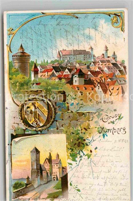 AK / Ansichtskarte Nuernberg Burg Aufgang zur Burg Kat. Nuernberg