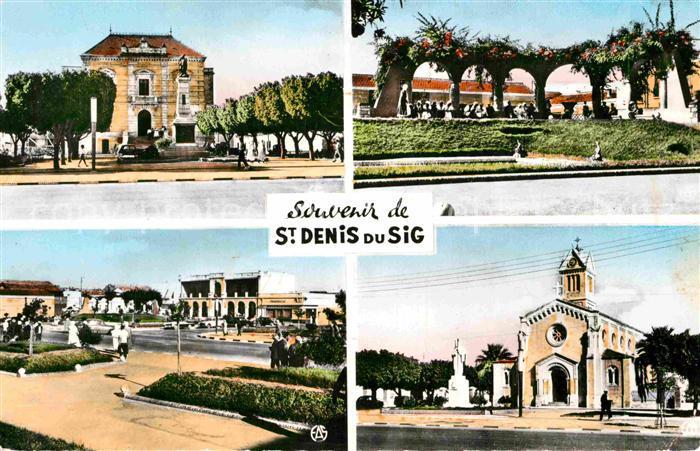 AK / Ansichtskarte Saint Denis du Sig Hotel de Ville Pergola de la Place Eglise Statue de St Denis