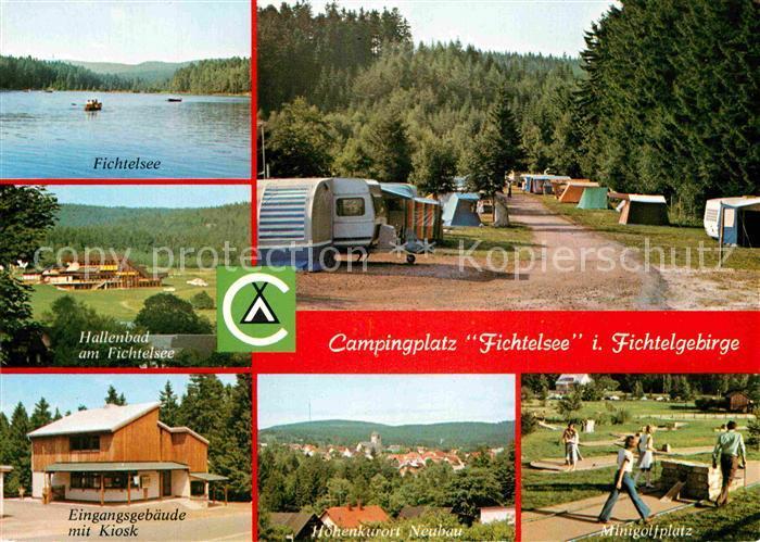 AK / Ansichtskarte Fichtelberg Bayreuth Campingplatz Fichtelsee Neubau  Kat. Fichtelberg