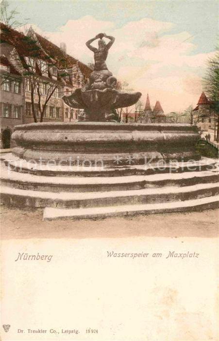 AK / Ansichtskarte Nuernberg Wasserspeier am Maxplatz Kat. Nuernberg