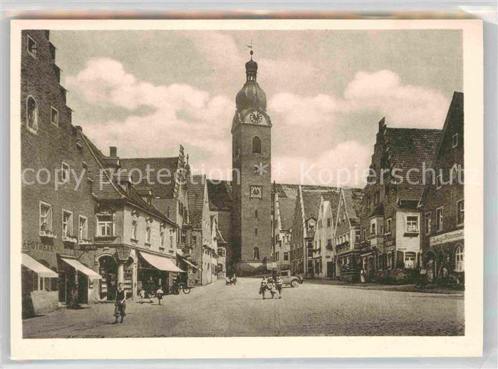 Ak Ansichtskarte Schwandorf Marktplatz Kat Schwandorf Nr Df10665