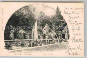 AK / Ansichtskarte Bayreuth Koenigliches Schloss Eremitage Untere Grotte  Kat. Bayreuth