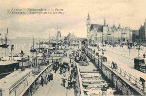 AK / Ansichtskarte Anvers Antwerpen Embarcadere et le Steen Kat.