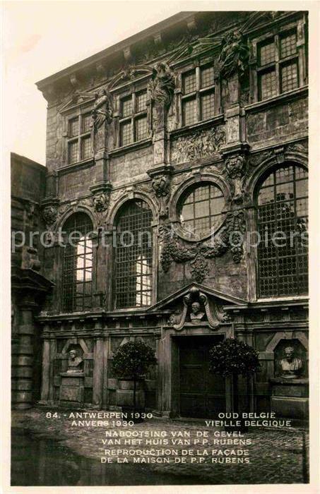 AK / Ansichtskarte Anvers Antwerpen Reproduction de la Facade de la Maison de PP Rubens Carte Postale Officielle Exposition Internationale Kat.