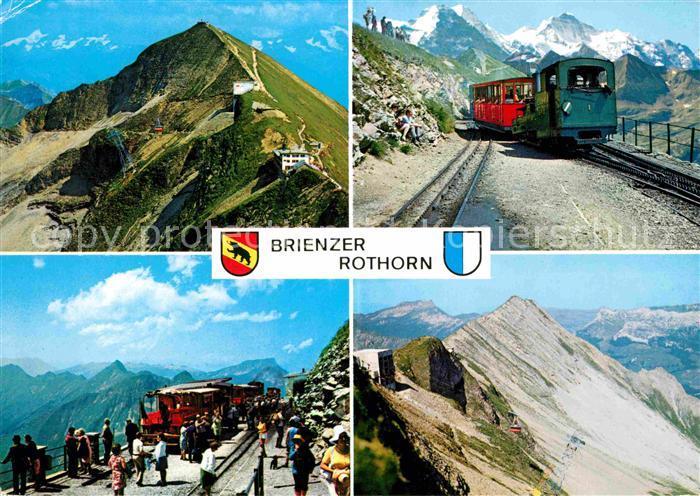 AK / Ansichtskarte Brienzer Rothorn BE Zahnradbahn Moench Jungfrau Eiger  Kat. Brienzer Rothorn
