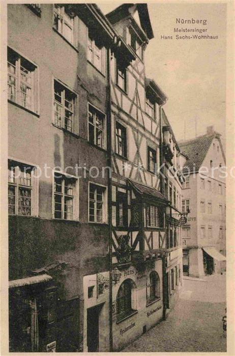 AK / Ansichtskarte Nuernberg Hans Sachs Wohnhaus Kat. Nuernberg