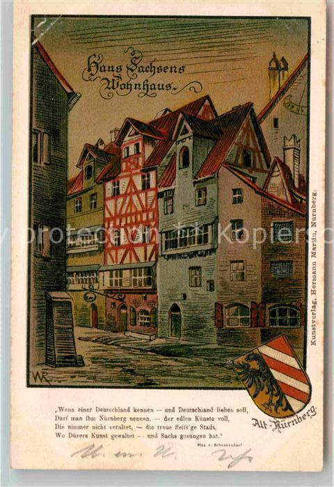 AK / Ansichtskarte Nuernberg Wohnhaus Hans Sachs Kat. Nuernberg