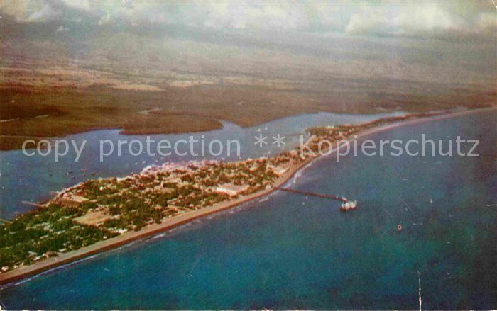AK / Ansichtskarte Puerto Puntarenas Fliegeraufnahme