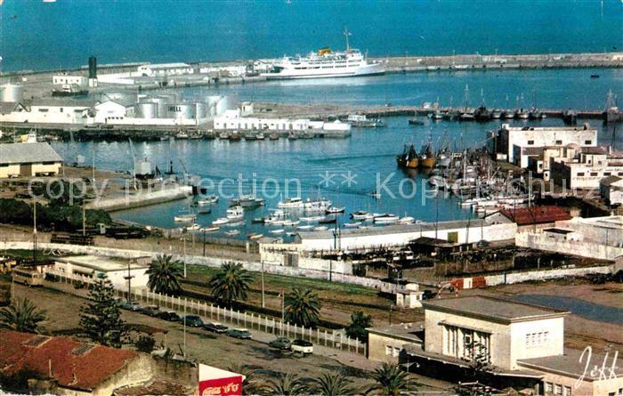AK / Ansichtskarte Tanger Tangier Tangiers La gare et le port Kat. Marokko
