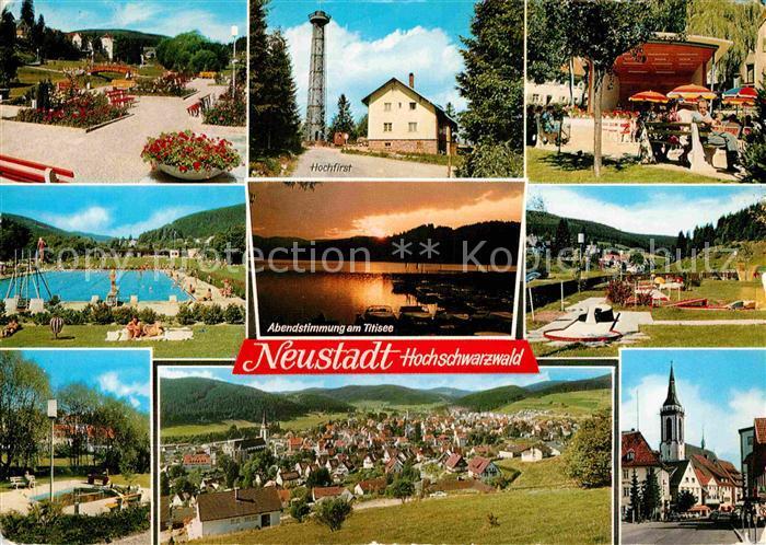 AK / Ansichtskarte Neustadt Schwarzwald Hochfirst Schwimmbad Kirche Minigolf Kurgarten