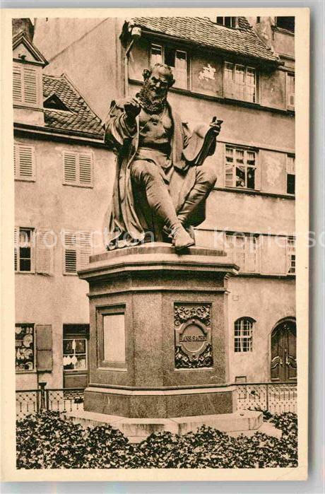 AK / Ansichtskarte Nuernberg Hans Sachs Denkmal Kat. Nuernberg