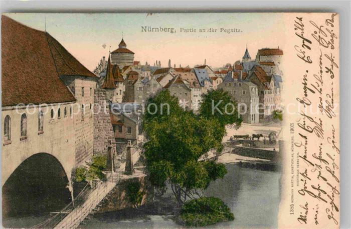 AK / Ansichtskarte Nuernberg Partie an der Pegnitz Kat. Nuernberg