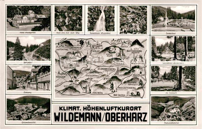 AK / Ansichtskarte Wildemann und Umgebung Luftkurort im Harz Kat. Wildemann Harz